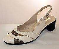Женские кожаные босоножки с закрытым носочком