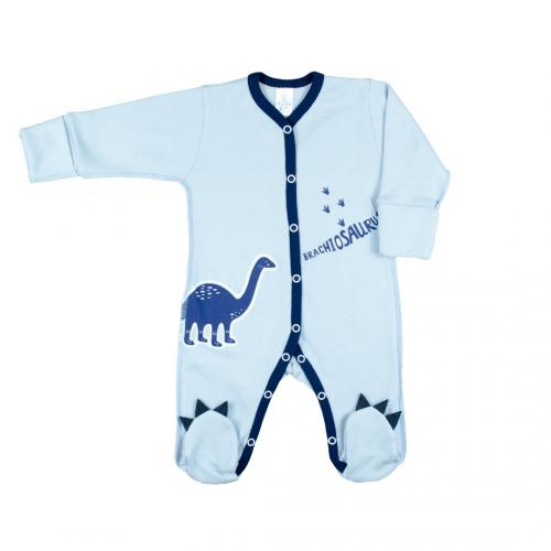 Комбинезон для новорожденных Верес Dinosaur интерлок 56 см синий