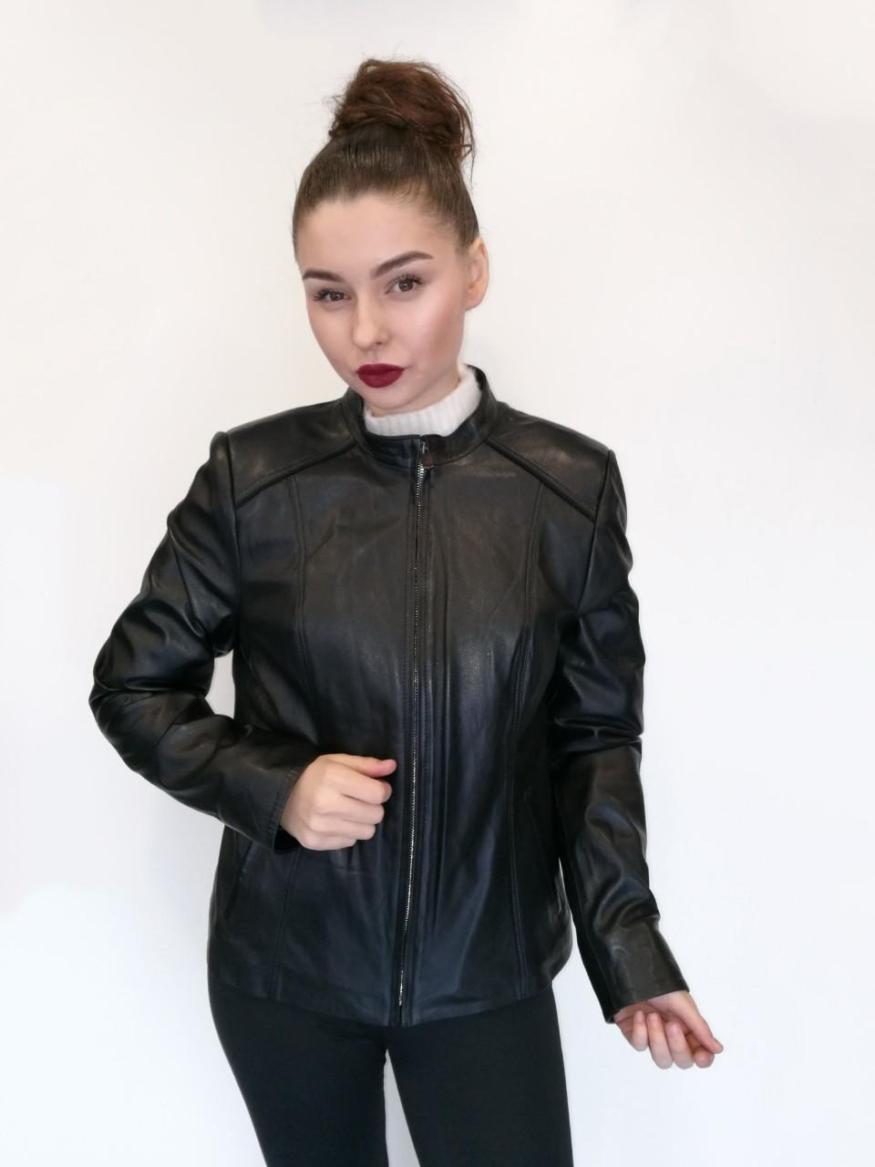 Куртка кожаная Oscar Fur 417 Черный