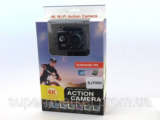 SJ7000 Authentic H9 Action Camera экшн-камера регистратор DVR Wi-Fi 4K IP68, фото 2