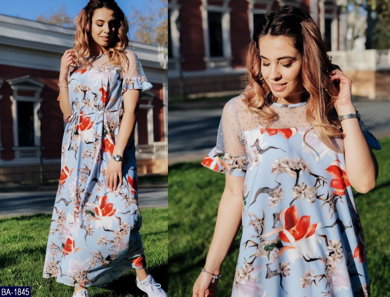Стильное платье    (размеры 48-58)  0179-51