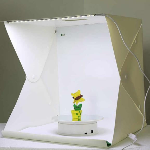 Портативная мини фото студия 40*40*40 см. Лайтбокс с Led-подсветкой. Фотокуб