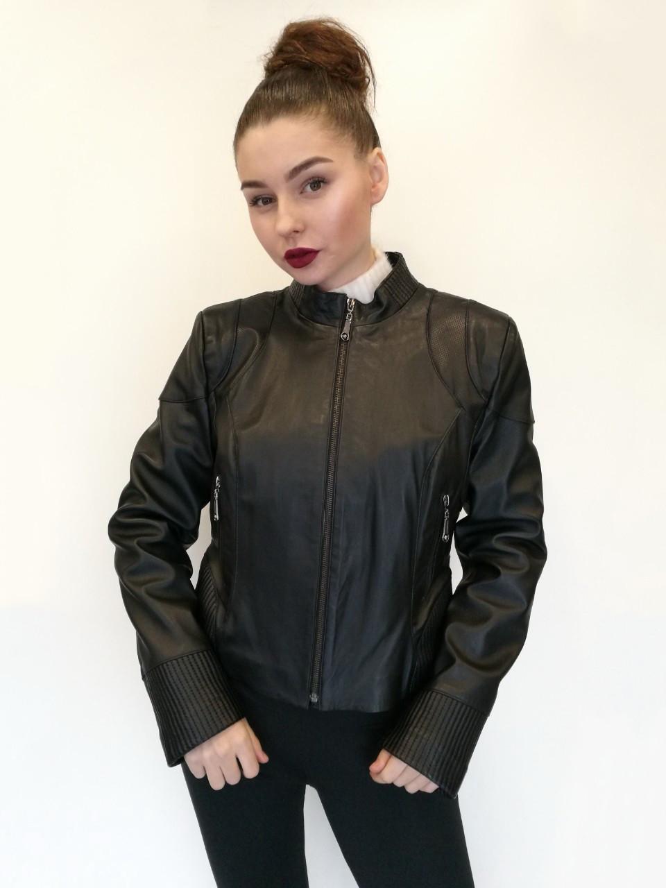 Куртка кожаная Oscar Fur 436 Черный