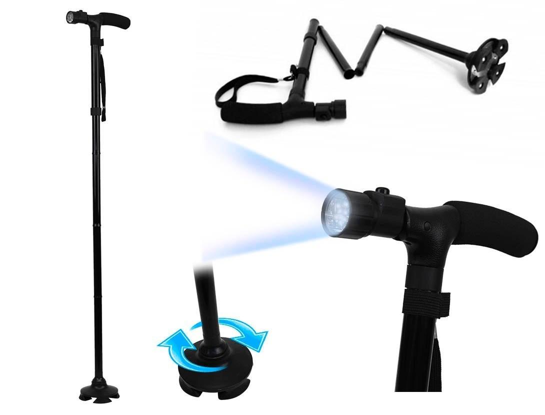 Трость с подсветкой, телескопическая трость Trusty Cane