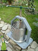 Прес из нержавеющей стали - 10 литров, соковыжималка механический прес