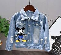 Куртка джинсовая Микки Маус, фото 1
