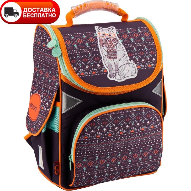 Рюкзак в школу для девочки каркасный GoPack GO18-5001S-4