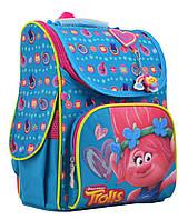 Рюкзак школьный для девочки каркасный 1Вересня 555162  H-11 Trolls turquoise