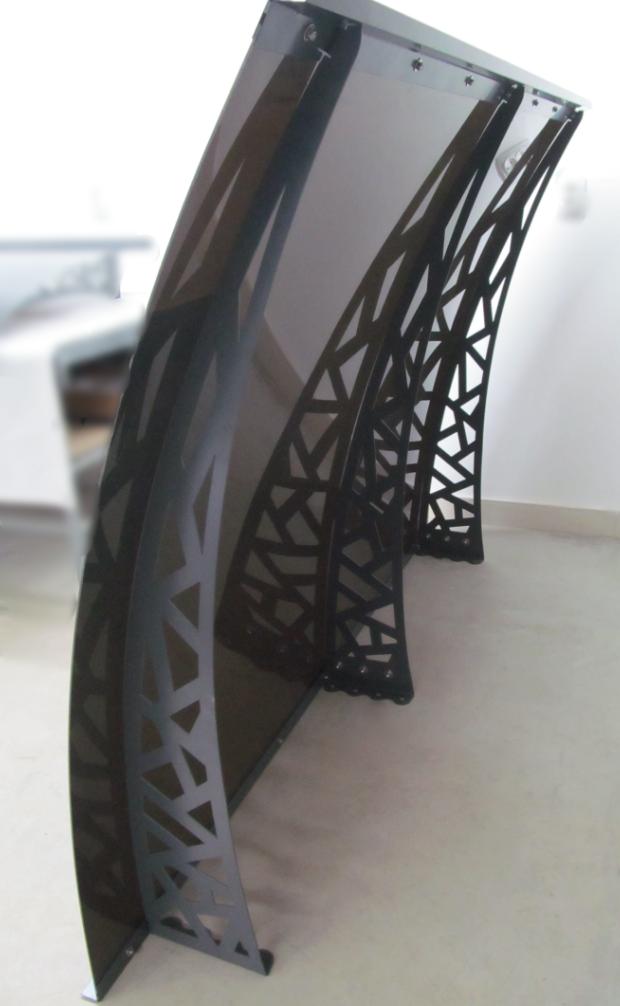 Металевий збірний дашок Dash'Ok Хайтек 1,5м*1м з монолітним полікарбонатом 4мм