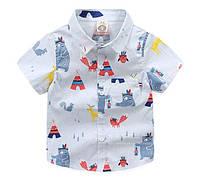 Рубашка Вигвам к/р (бел) 140,150, фото 1