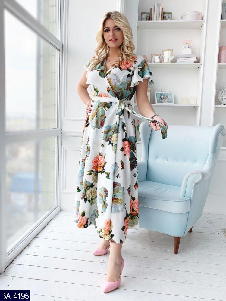 Стильное платье    (размеры 48-54)  0179-67