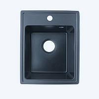 Гранитная мойка Platinum 4050 черный (брак№901)