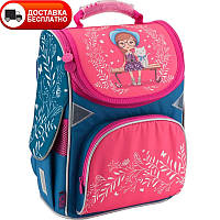 Рюкзак школьный для девочки каркасный GoPack GO18-5001S-25 , фото 1