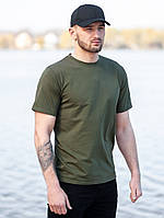Мужская футболка BEZET Base khaki '19, мужская зеленая футболка, футболка хаки