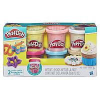 Набор пластилина Play-Doh 6 баночек с конфетти (B3423), фото 1