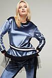 2237 костюм брюки Лакшери, голубой (L), фото 3