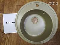 Гранитная мойка Platinum 510 RAL1014