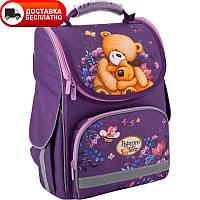 Портфель школьный для девочки каркасный Kite PO19-501S  Popcorn Bear