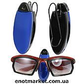 Клипса держатель для очков на солнцезащитный козырек в салон автомобиля