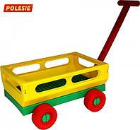 Тележка Polesie с ручкой №2 желтая (44396-1)