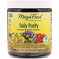 Очищение, Daily Purify, MegaFood, несладкий, 58.9 грамм