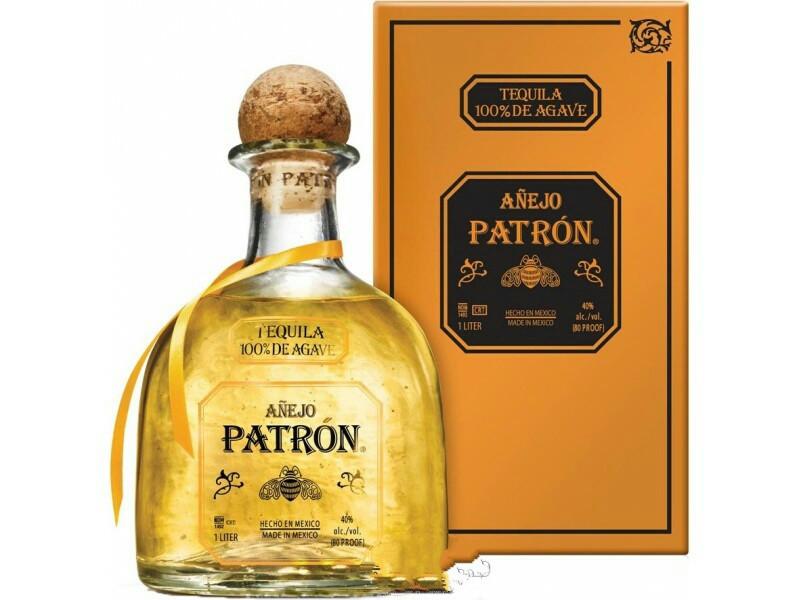 Мексиканская текила Patron Anejo 1л в подарочной коробке/ Патрон Аньехо