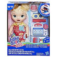 """Кукла Hasbro Baby Alive """"Малышка и еда"""" (E1947), фото 1"""