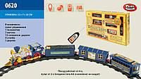 Железная дорога батар.р/у, муз., свет.эффекты, поезд, 3 вагона, в кор. 53*31*7см ()