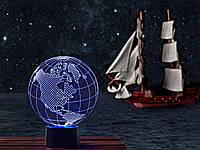 """3D светильник """"Глобус"""" 3DTOYSLAMP"""