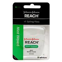 США Зубная нить Reach Waxed Dental Floss - Mint- 55 yds