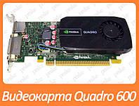 Видеокарта NVIDIA Quadro 600 1Gb PCI-Ex DDR3 128bit (DVI + DP) низкопрофильная