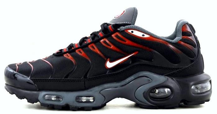3cf456c3 Мужские кроссовки Nike Air Max TN Plus Black/Red/White - Интернет-магазин