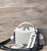 Женская крутая кожаная сумка supreme