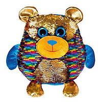 """Мягкая игрушка с паетками Fancy """"Блестяшки"""" мишка Джорджио (MOG01), фото 1"""