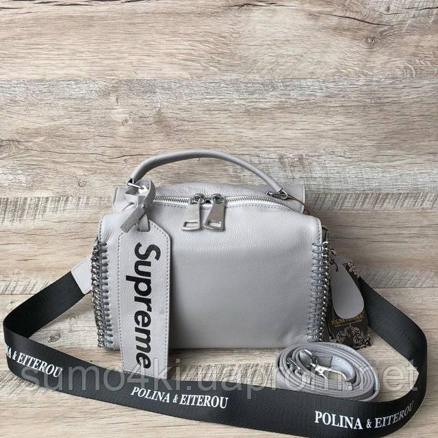 6cd6a8d60c32 МЕГА-стильная кожаная сумочка!! Представлена в двух вариантах, смотрите  фото. -новая модель -мягкая кожа лайка -качественная дорогая фурнитура.  Размер: