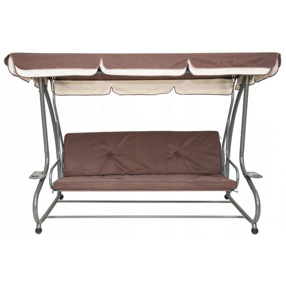 """4-місна садова гойдалка-диван """"Люкс-максі"""" коричнева. Є у наявності!"""