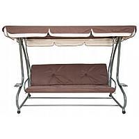 """4-местная садовая качеля-диван """"Люкс-макси"""" коричневая. Есть в наличии!"""