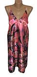 Шелковый комплект халат с ночной рубашкой 3D рисунок, фото 2