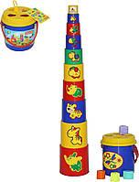 Игрушка Polesie занимательная пирамидка №3 16 элементов (52605), фото 1