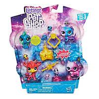 Игровой набор Hasbro Littlest Pet Shop 11 космических петов (E2130)
