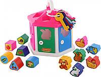 Логический домик Polesie розовый (6196-1), фото 1