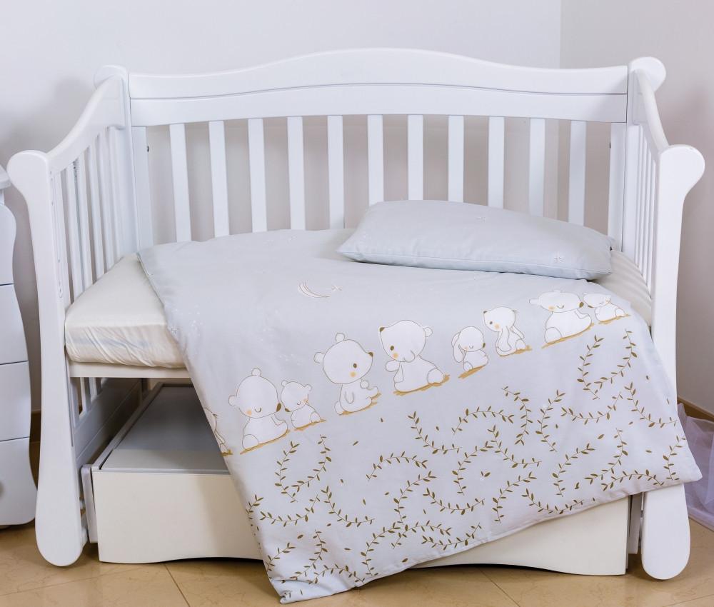 Сменная постель Twins Eco Line Umka grey baby 3 эл E-016 (Змінна постіль Twins Eco Line E-015 )