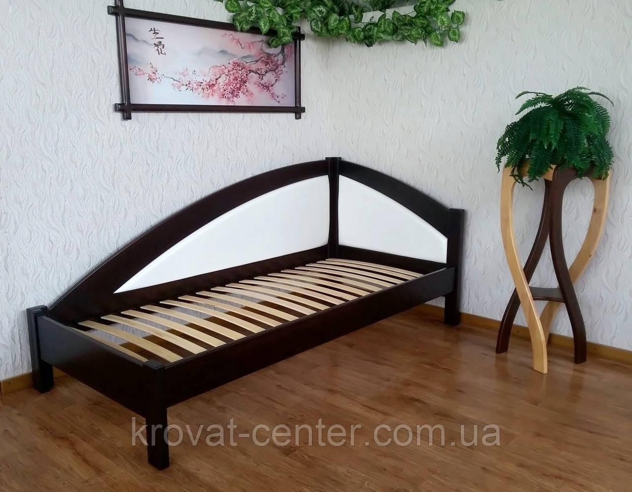 """Односпальная кровать с мягкой спинкой """"Радуга Премиум"""" от производителя"""