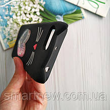 3D Чехол Xiaomi Redmi 6A Котик с ушками и сердечком Черный ...