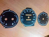 Шкалы приборов Lanos sport с прозрачными делениями, фото 1