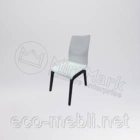 Стілець столовий у вітальню Віола Білий Глянець - Чорний Мат Міромарк