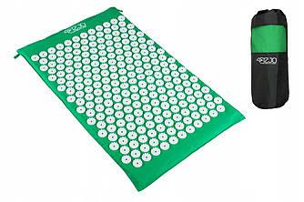 Коврик акупунктурный 4FIZJO Апликатор Кузнецова 72 x 42 см  Green зеленого цвета