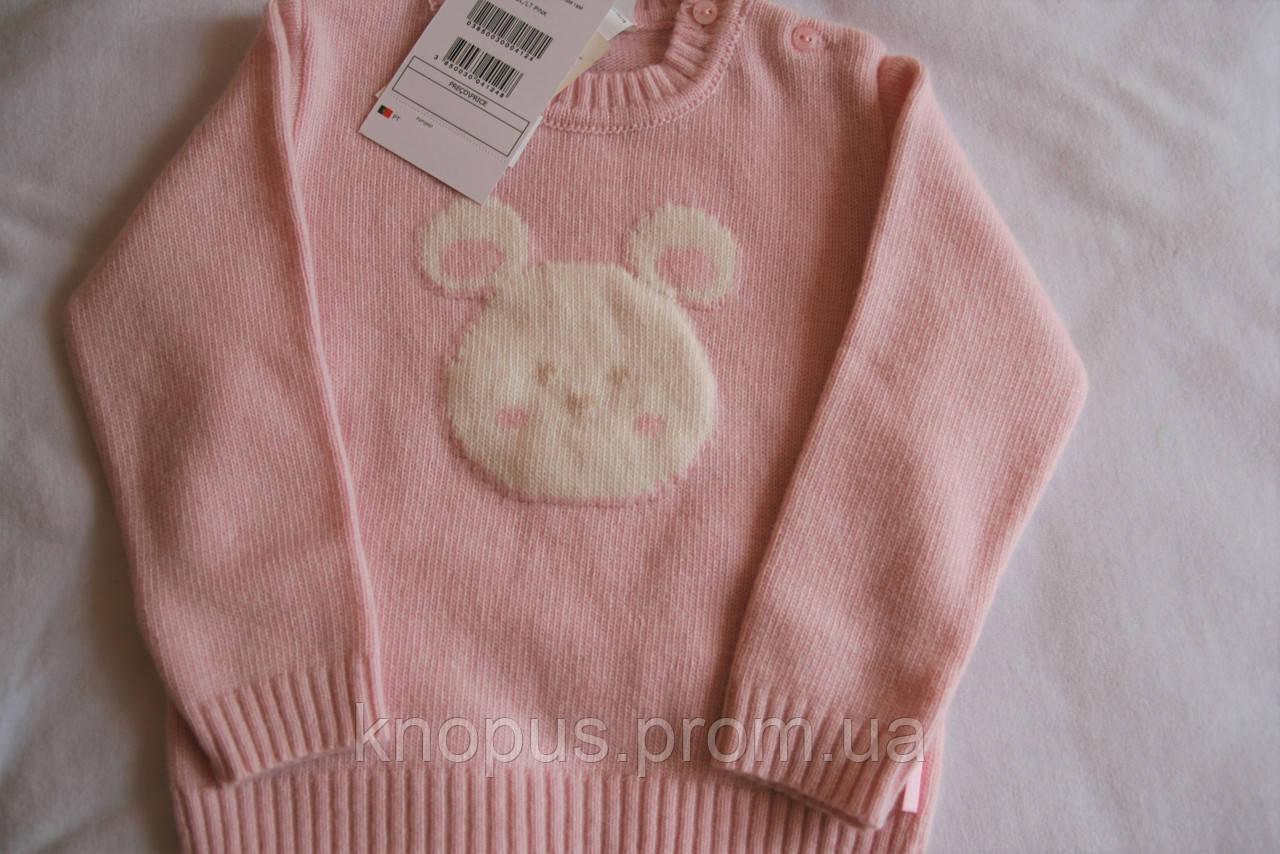 Вязаный джемпер для малышки  (нежно-розовый), Girandola, размер 92