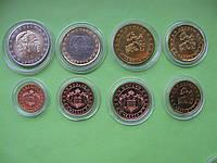 Монако , набор евро монет 2001 г. , UNC.