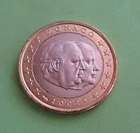 Монако 1 евро 2002 г. UNC.